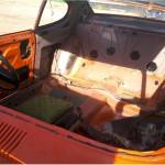 Interior of Capri, windscreen surround is reasonable