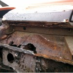 Rear offside inner sill and quarter panel